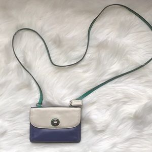 Authentic Coach color-block Dylan  crossbody purse